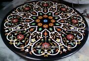 42 Inches Marble Inlay Table Top With Gemstones Work Dining Table Home Furniture