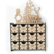 10xdiy Wooden Advent Calendar Box With Ders House Shaped Christmas