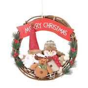 10xchristmas Front Door Wreath Flower Gifts For Christmas Party Decorations