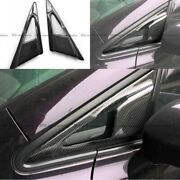 For 06-11 Honda Civic Fd Fd1 Fd2 Fe Style Carbon Side Mirror Air Duct Vents Trim