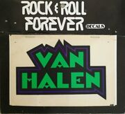 Rare Rock And Roll Forever Window Decal Van Halen Official 1980and039s Sticker Eddie