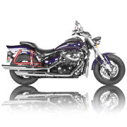 Suzuki Boulevard M50 Stainless Steel Rear Luggage Guards And Soft Side Bag Stays