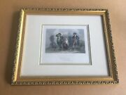 Sic A Wife As Willie Had-hand Colored Print - Bartlett-1840. Archival Framed