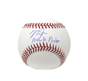 Mike Trout Los Angeles Angels Signed Omlb Baseball Millville Meteor Insc Mlb