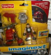 Nib Imaginext Robot Villain, 2010, Fisher Price, Cd-rom Game Included