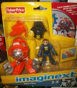 Nib Imaginext Robot Police, 2010, Fisher Price, Cd-rom Game Included
