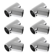 6pc 7/8 316 Stainless Steel 60anddeg Front Stanchion Hand Rail For Boat Marine Yacht