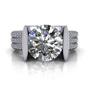 1.00 Ct Real Diamond Womeengagement Ring Solid 18k White Gold Rings Size 6 7 8