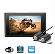 3.0'' In Wifi Real 1080p Motorcycle Camera Waterproof Dash Cam Front Rear View