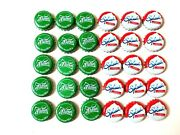 30/pcs Sprite 2 Kind Green And White Bottle Caps Thailand Collectible Handmade