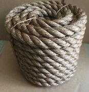 1-1/2 X 100and039 Treated Manila Rope Dock Tree Work Dock Farm Nautical Crafts Rodeo