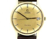 Omega Vintage Automatic Movement 9k.yellow Gold Dress Gents Watch 1970and039s