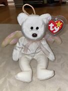 Rare Ty Halo The Angel Beanie Baby W/ Errors Mint Condition