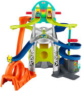 Little People Launch And Loop Raceway Light-up Vehicle Playset Toddler Friendly
