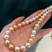 Special Offer Aurora10-13mm Australian South Sea Pearl Necklace G18k Japan Order
