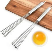 Stainless Steel Whisk Egg Beater Wisk Manual Set Wire Whisk Milk With Steel Ball