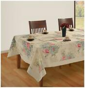 Swayam Off White Colour 4 Seater Table Flat Table Cover-yct