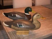 Pair Of Signed Madison Mitchell Working Decoys