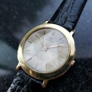 Mens Omega 31mm 18k Gold Hand-wind Ultra-thin Dress Watch C.1960s Ms196blk