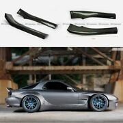 For Mazda Rx7 Fd3s Rb-style Carbon Fiber 2pcs Side Skirt Extension Addon Parts