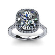 Real 0.80 Ct Cushion Diamond Engagement Rings Solid 18k White Gold Ring Size 6 7