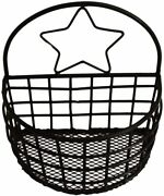 Rustic Wire Basket For Kitchen Pantry Papers Multifunction Storage Desk Shelf