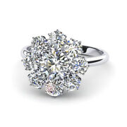 Natural 1.20 Ct Round Diamond Wedding Rings Solid 18k White Gold Band Size 7 8 9