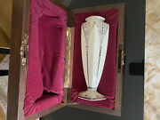 Rare 1989 Lenox Centennial Collection Vase Hand Painted Sterling Silver Wood Box