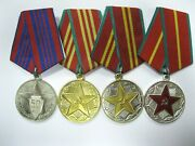 Russian Mvd Medals For Impeccable Service 50 Years Soviet Militia Lmd Leningrad