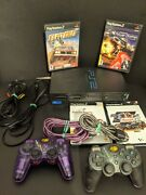 Sony Ps2 Playstation 2 Controllers And Games Flat Out Moto Gp