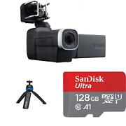 Zoom Q8 Hd Recorder Starter Pack 2.3k Hd Camcorder With Mini Tripod And Sd Card