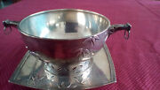 Japanesque Sterling Silver Bowl And Underplate - 2100andnbsp