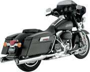 Muffler Monster Round Chrome - Harley Davidson Glide Road Electra Abs Classic...