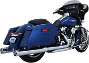 Exhaust Slip-ons Monster Round Chrome - Harley Davidson Abs Glide Road Ultra ...