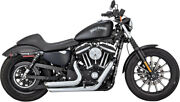 Exhaust System Shortshots Staggered Chrome - Harley Davidson Xl Abs Sportster...
