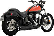 Exhaust System Hi-output 2-into-1 Short Black - Harley Davidson Softail Abs B...