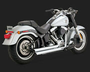 Exhaust System 2-into-2 Big Shots Staggered Chrome - Harley Davidson Softail ...