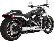 Exhaust System Hi-output 2-into-1 Short Chrome - Harley Davidson Abs Breakout...