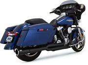 Exhaust System Pro-pipe 2-into-1 Black - Harley Davidson Abs Glide Road Ultra...