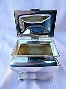 Anitique Silver Plated Hinged Top 3 3/4 Casket By Martin Hall And Co M H And Co Vgc