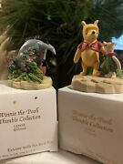 Lenox Disney Winnie The Pooh Piglet And Eeyore With His Red Pot Thimble Figurines