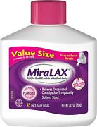 Miralax-45 Once-daily Doses-value Size. 26.9oz. Fresh. 8007