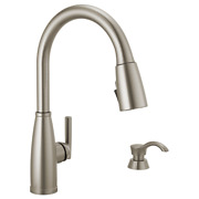 New Delta Varos Single-handle Pull-down Kitchen Faucet With Soap Dispenser