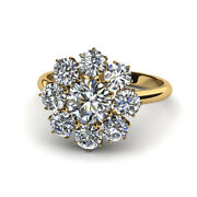 Real 1.20 Ct Diamond Engagement Rings For Women Solid 18k Yellow Gold Size 6 7 8