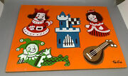 Sifo Wooden Puzzle H9 King And His Castle Vintage Wood Vtg