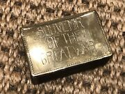 First World War Ww1 Trench Art Engraved 'charles Stirling' Match Book Holder
