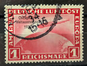 Germany Third Reich 1933 Zepellin Chicago World Expo Mi 496 Used