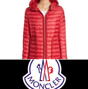 Moncler Raie Giubbotto Red Womens Down Jacket Msrp 1195 - Please Read