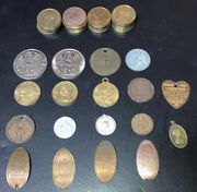 Religious And Guardian Angel Tokens Coins Medals Lot Vintage To Now 43 Pieces