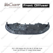 Forged Carbon Diffuser For 17-20 Nissan R35 Gtr Eba Yc Design Style Front Lip